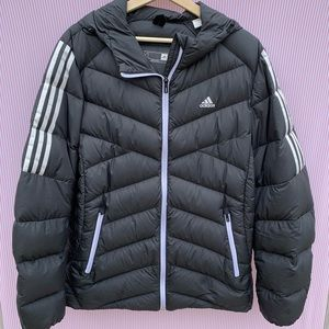 Adidas Women's Puff Jacket in Navy